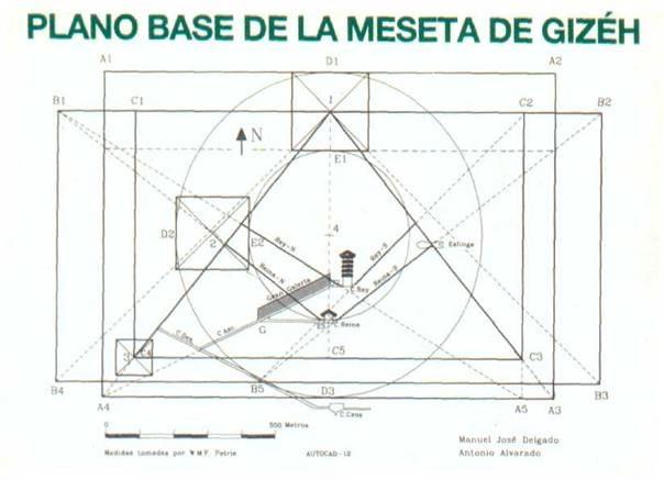 meseta gizeh geometría sagrada
