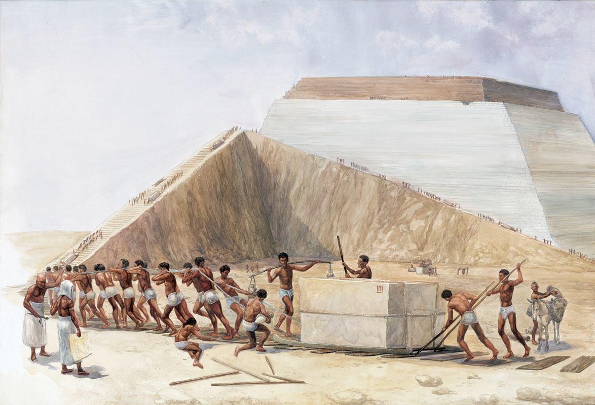 construcción pirámide Keops