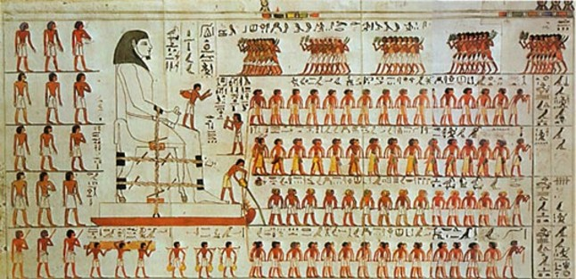 construcción pirámides estela